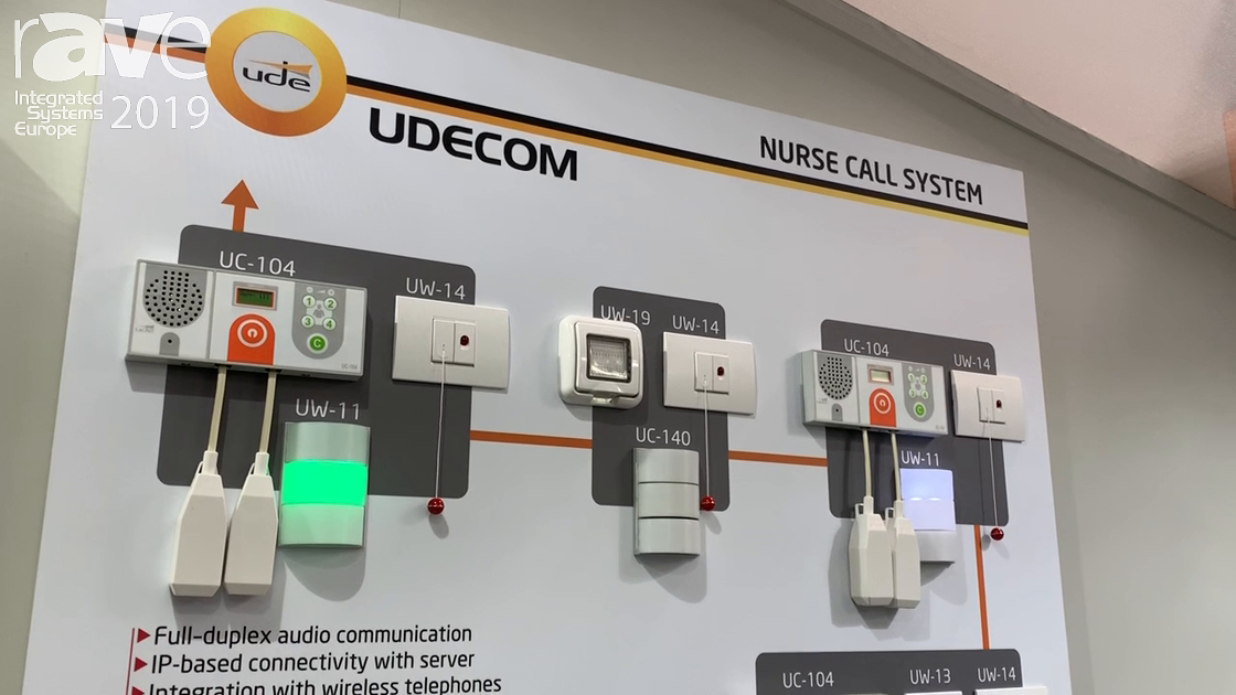 ISE 2019: UDE Intros UDECOM Nurse Call System