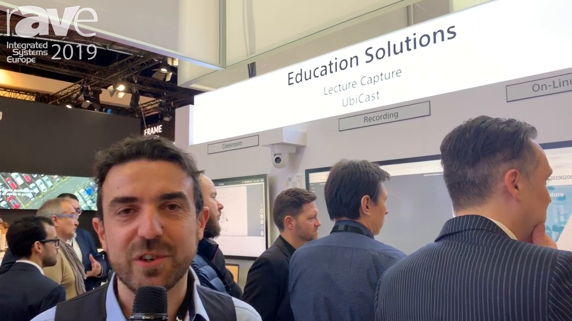 ISE 2019: UbiCast at Sony Electronics Talks About Netcapture Lecture Capture Solution for Education