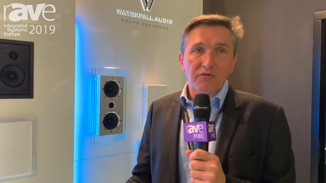 ISE 2019: Waterfall Audio Shows the Glass Victoria Speaker Line, On-Wall and Free Standing Speakers