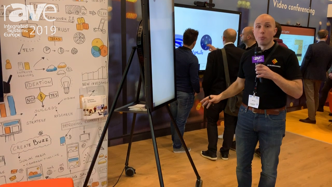 ISE 2019: i3-Technologies Demos i3SIXTY Digital Flipchart with Rolling Stand