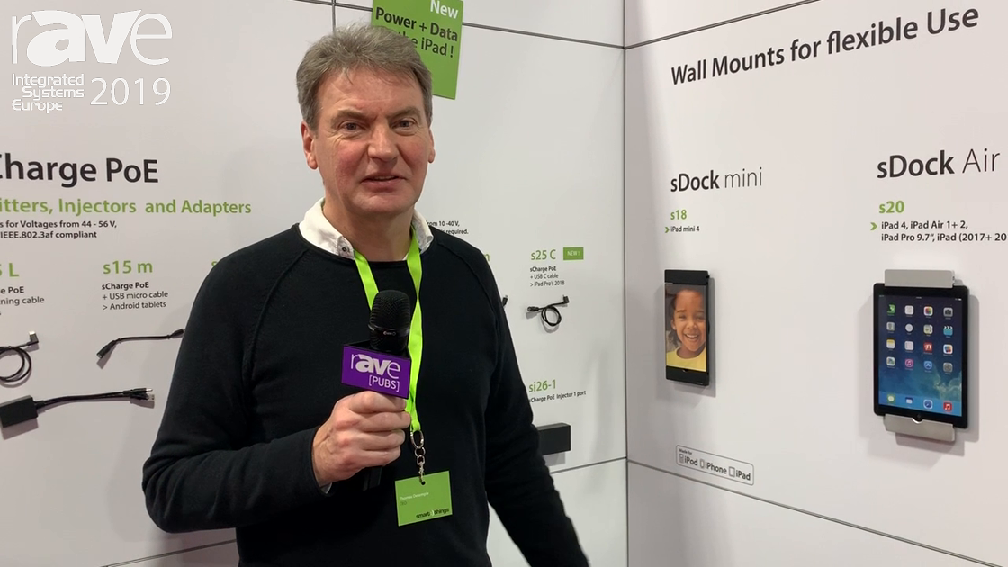 ISE 2019: smart things Demos sDock Tablet Wall-Mount Series