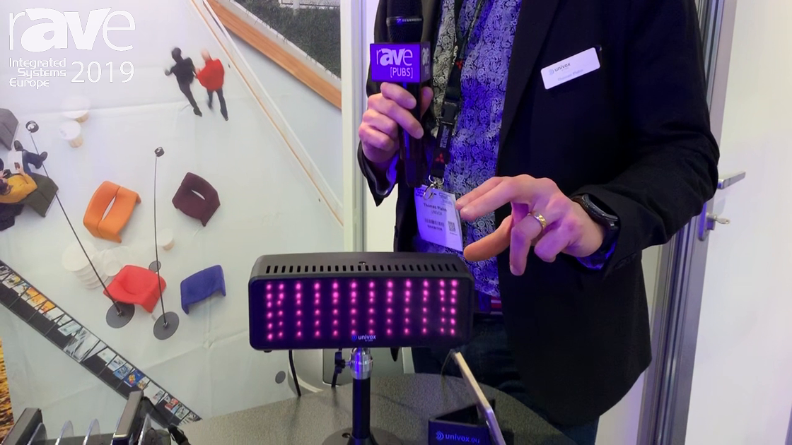 ISE 2019: univox Shows Off IR System Compact 2-watt Transmitter