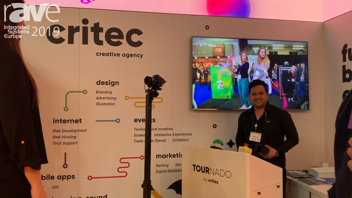 ISE 2019: Critec Exhibits Tournado Solution Shows 360-Angle Video of Target