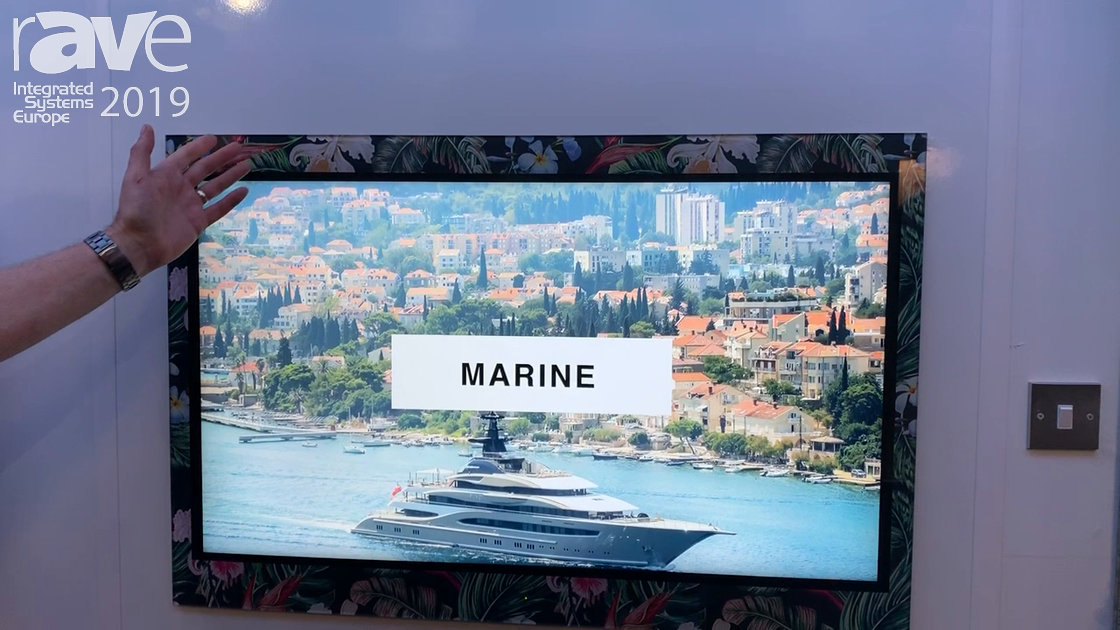 ISE 2019: Aquavision Shows the Updated Frameless TV Units With Custom Glass Printing