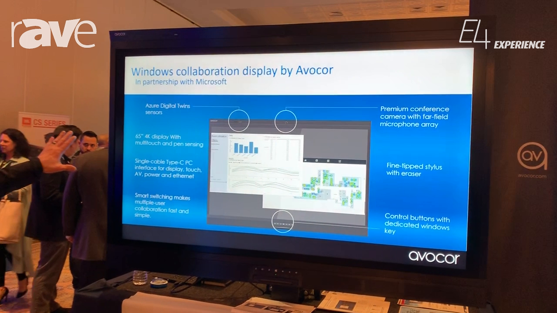 E4 Experience: Avocor Shows Windows Collaboration Display Developed in Partnership with Microsoft