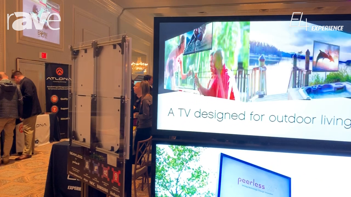 E4 Experience: Peerless-AV Highlights New Xtreme High Bright Outdoor Displays