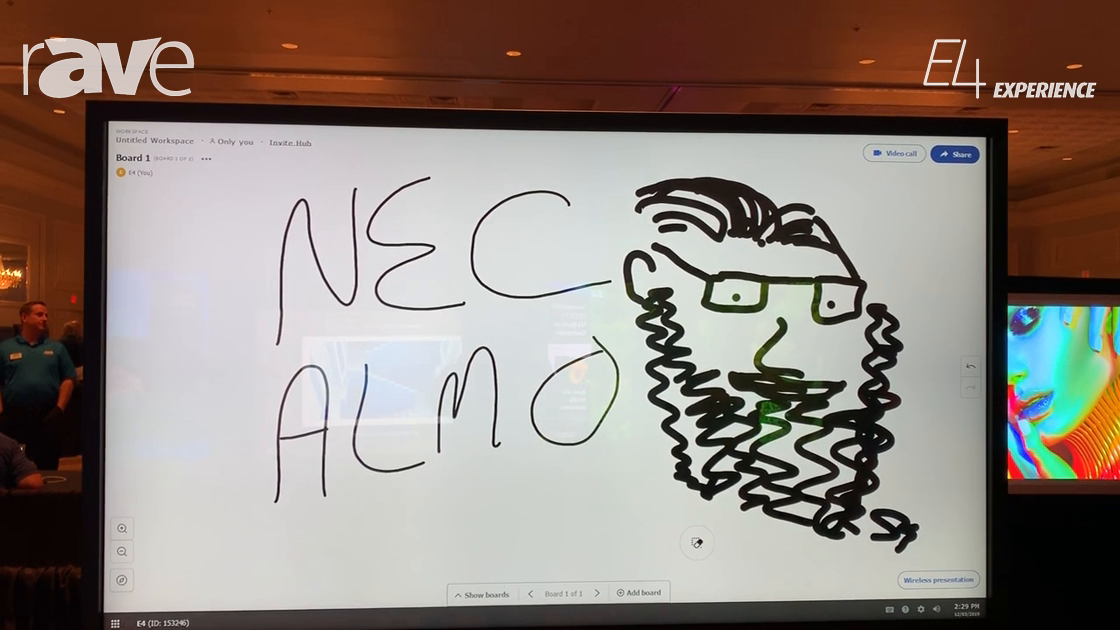 E4 Experience: NEC Display Shows C751Q Display with Touch Overlay Collaboration Solution