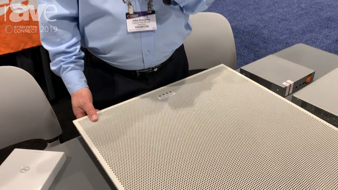 EC 2019: ClearOne Features New Beamforming Microphone Array Ceiling Tile for Office Enviroments
