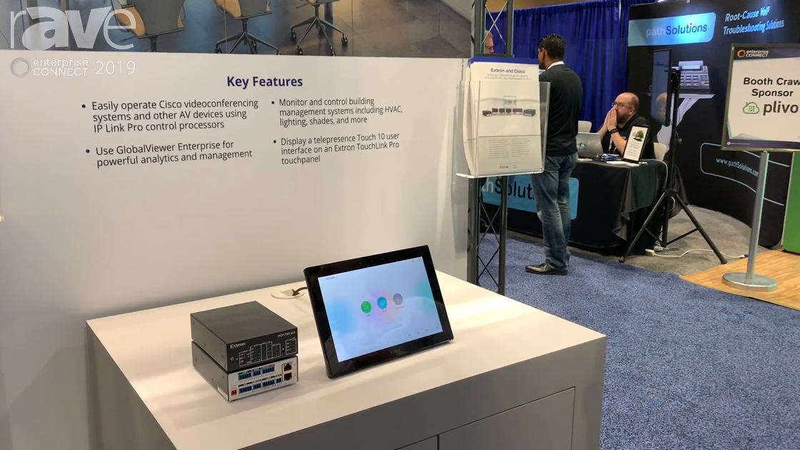 EC 2019: Extron Shows Cisco Integration With Touch 10 User Interface on Extron TouchLink Pro
