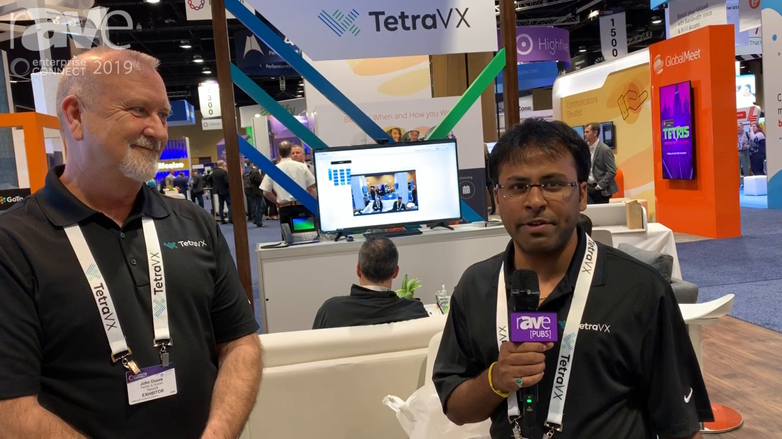 EC 2019: Krishna Koilada and John Dusek from TetraVX demo  AlertPro, UC assessment and monitoring tool for Microsoft business in the cloud