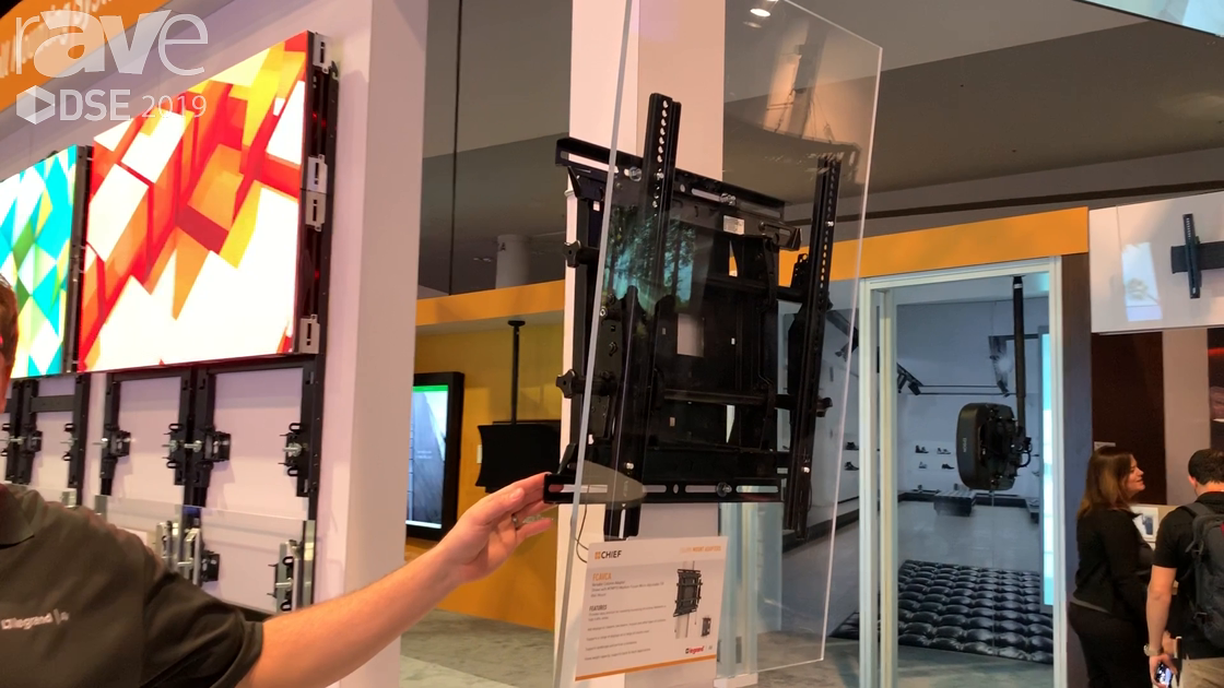 DSE 2019: Chief's Variable Column Adapter Lets You Use Standard Display Mounts on Trusses and Beams