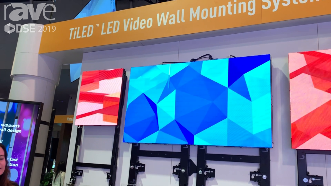 DSE 2019: Chief Expands the TiLED LED Video Wall Mounting System With Samsung, Absen and Unilumin