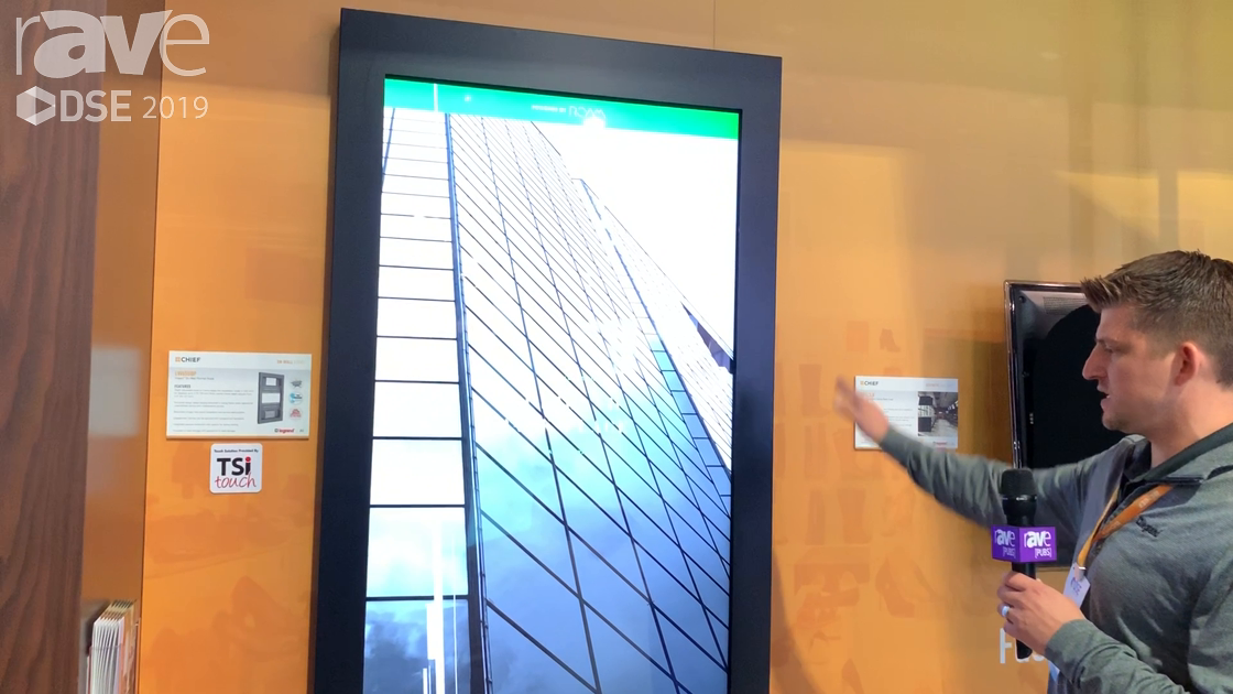 DSE 2019: Chief Shows Off ADA-Compliant On-Wall Impact Series Kiosk With Easy Access for Servicing