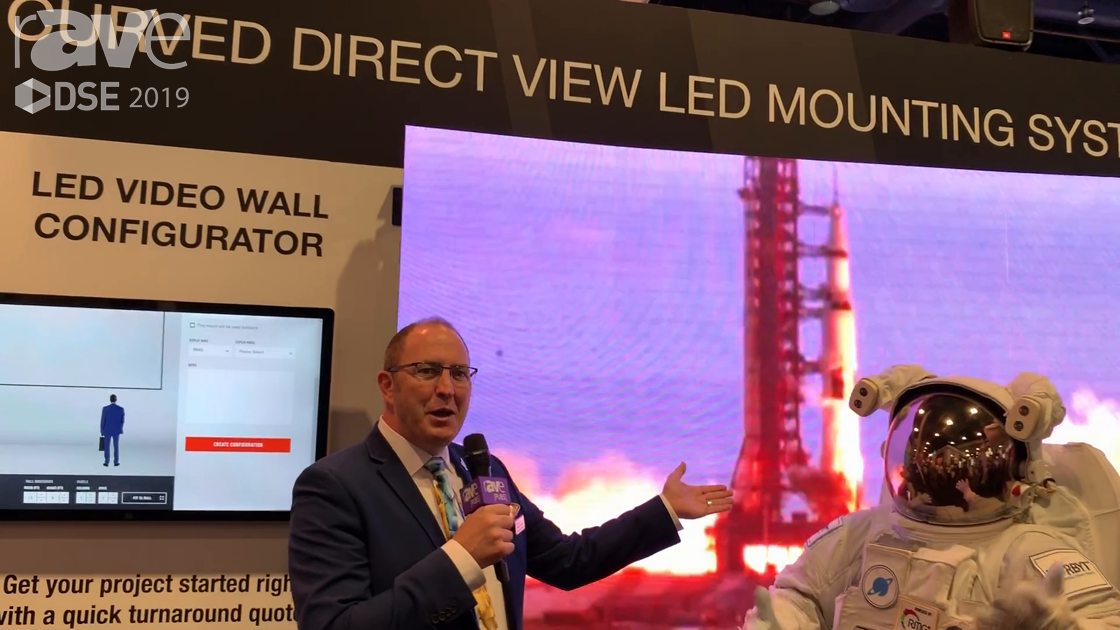 DSE 2019: Peerless-AV Highlights Its Curved Direct View LED Mounting Solution