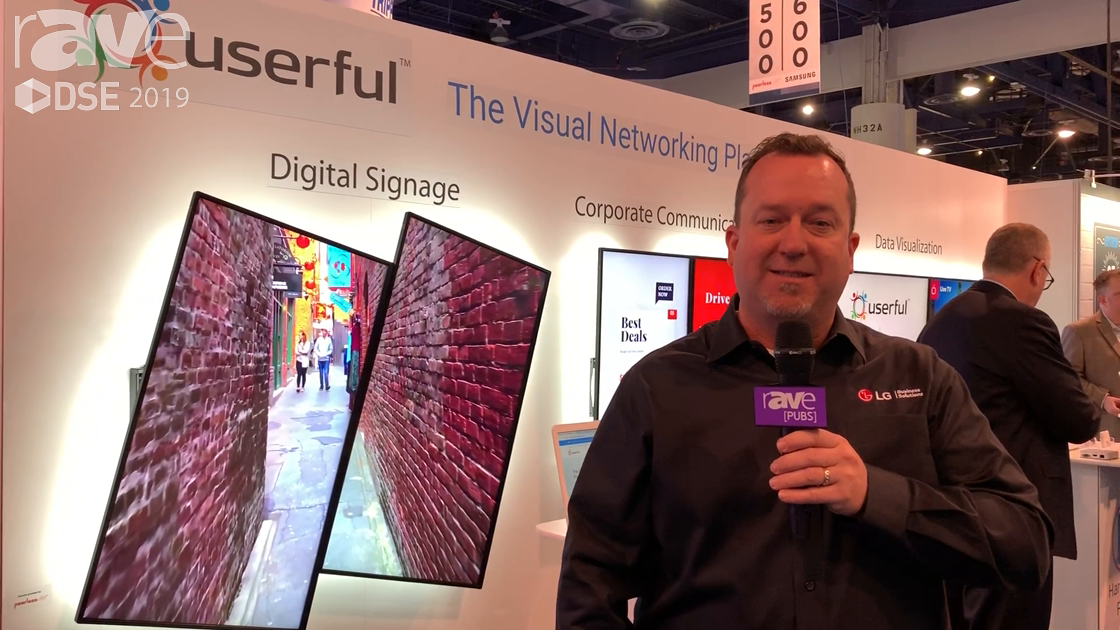 DSE 2019: LG's webOS Signage Combines With Userful's Cloud Solution for Cloud-Based Video Walls