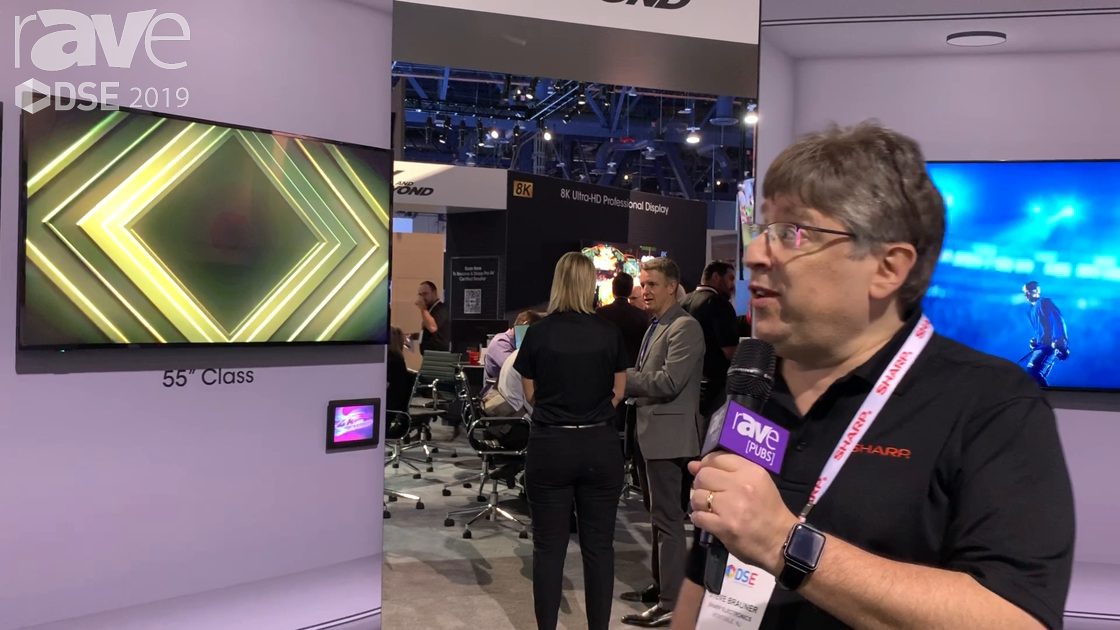 DSE 2019: Sharp Showcases Its 4K PNUH Series of Commercial Displays With Built-In Digital Tuners