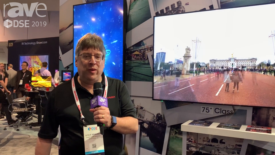 DSE 2019: Sharp Intros 4K PNHM Series of Displays with Built-in SOC Android-Based Controller