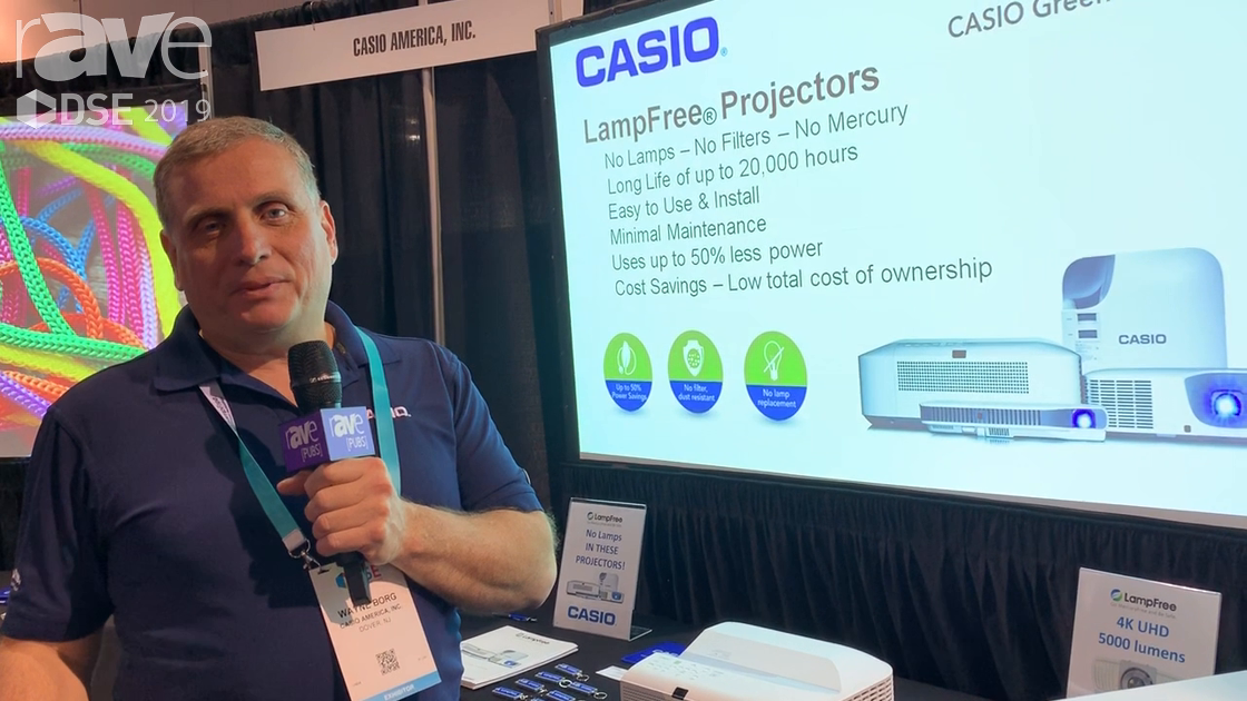 DSE 2019: Casio Features Its XJ-L8300WN 4K 5000-Lumen Projector