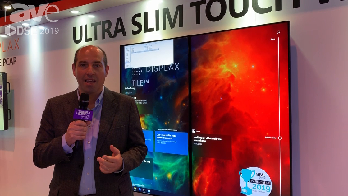 DSE 2019: DISPLAX Features Its TILE Ultra Slim, Narrow Bezel LCD Touch Video Wall Display
