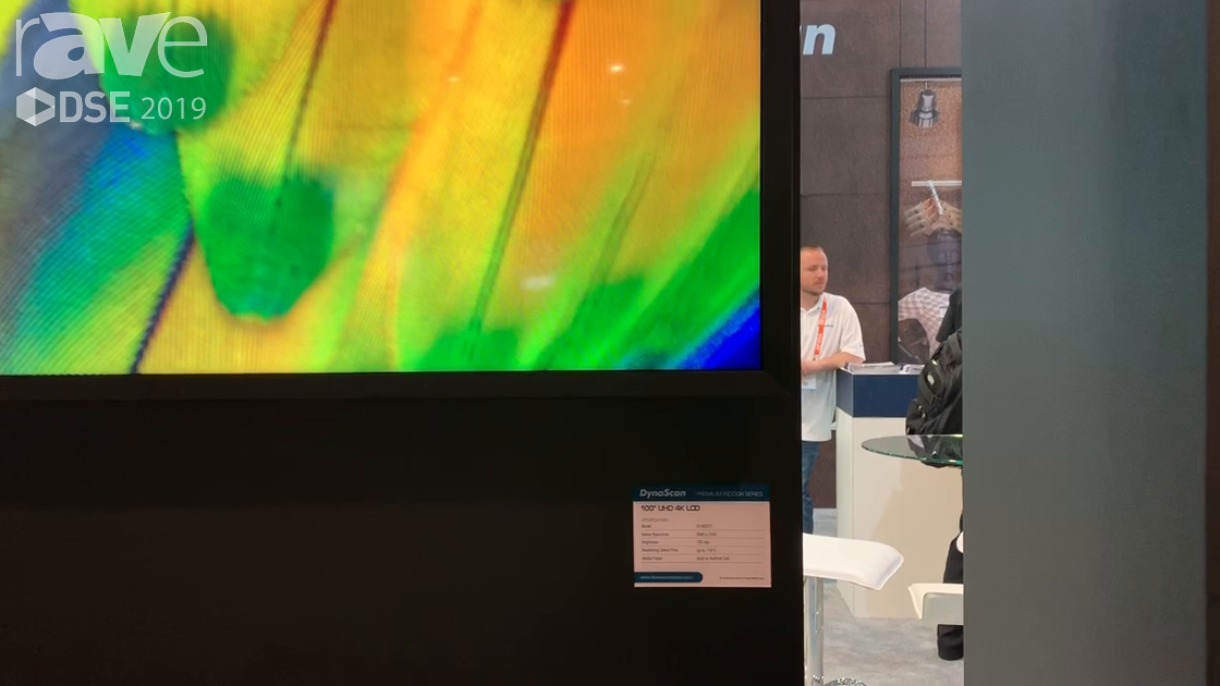 DSE 2019: DynaScan Showcases Its 100″ DI100ST2 UHD 4K LCD Display