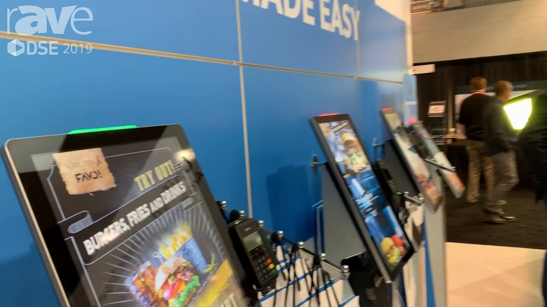 DSE 2019: Retail Tech X Shows a QSR Touch Digital Menu Board for In-Person Ordering