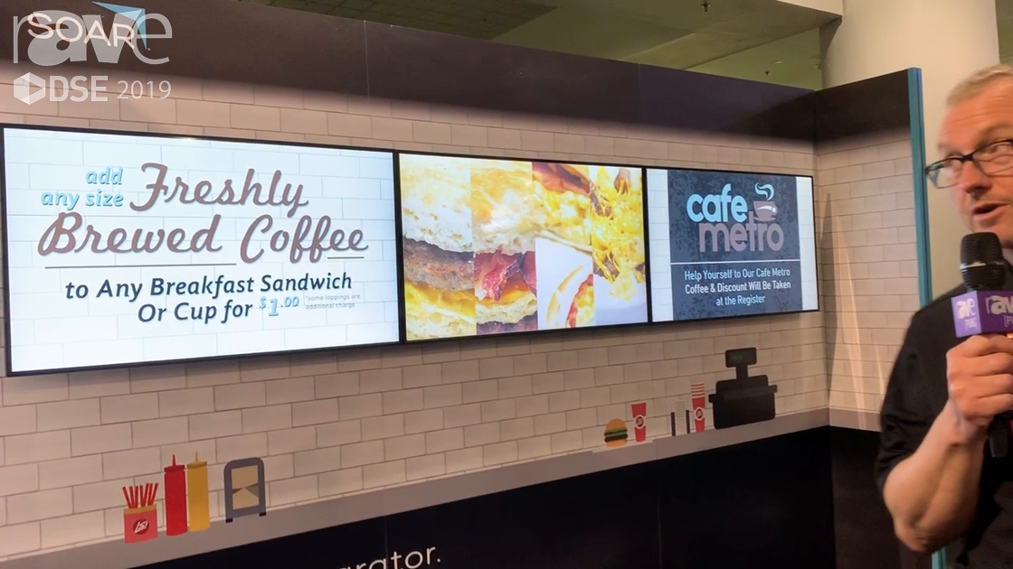 DSE 2019: SOAR Talks About Its Digital Menu Board Solutions, Including Content Creation and Install