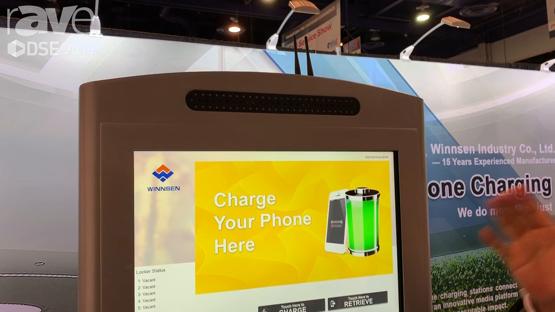 DSE 2019: Winnsen Industry Co Unveils New Cell Phone Charging Kiosk for Malls