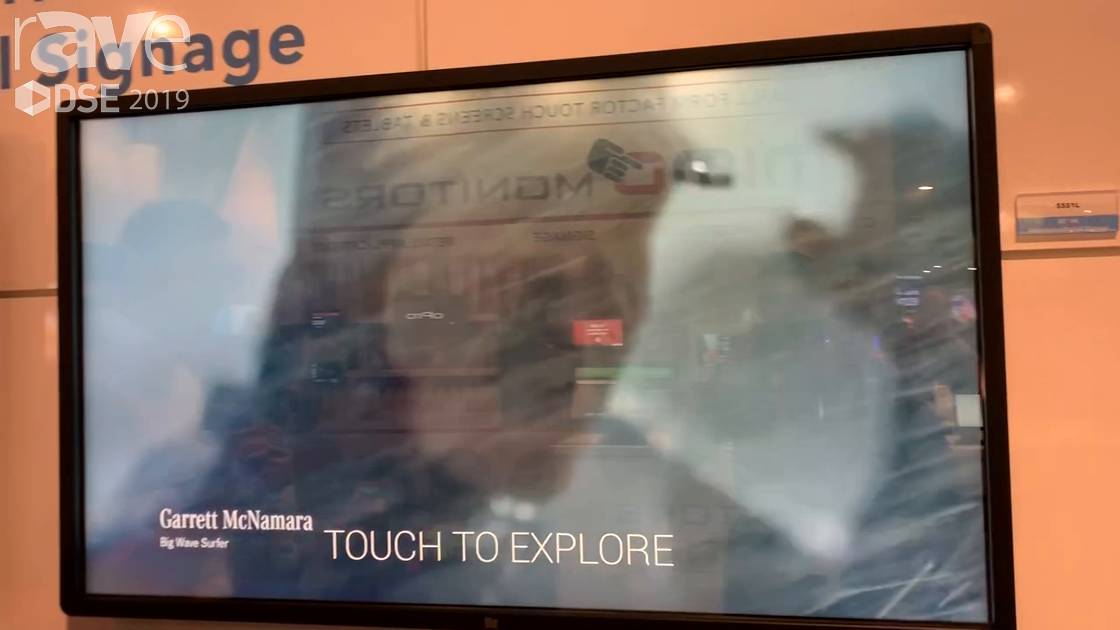 DSE 2019: spinTouch Demos myShowcase Interactive Digital Signage Software at Elo Touch Solutions