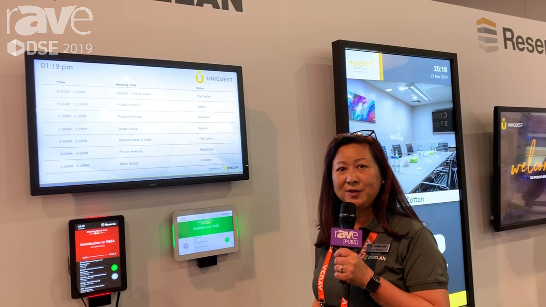 DSE 2019: Onelan Features Its Reserva Room Booking Solution