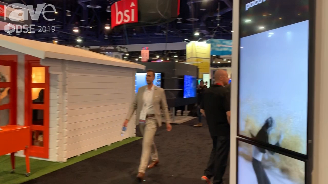 DSE 2019: Onelan Demos Signage Solution for Syncing Up Content Across Multiple Separate Displays