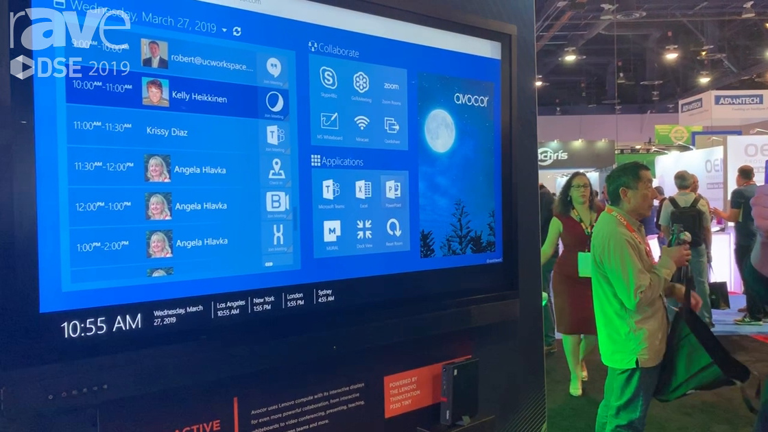 DSE 2019: Lenovo Showcases Its P330 Tiny Work Station on an Avocor Display