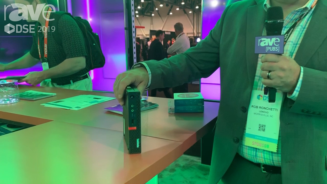 DSE 2019: Lenovo Talks About Its P330 Tiny Work Station That Can Support Six Displays at Once