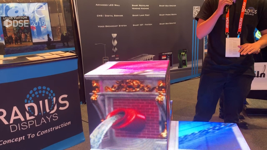 DSE 2019: Radius Displays Demos Air Magic Box LED Display, Can Be Configured in Multiple Ways