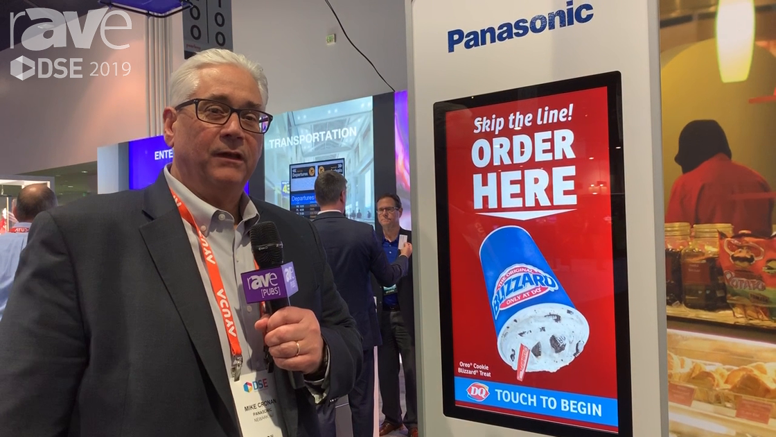 DSE 2019: Panasonic Features Its Self Service Kiosk for QSR Applications