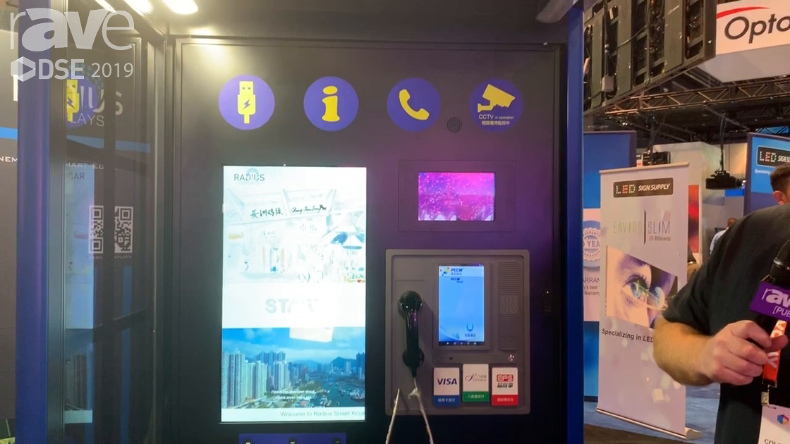 DSE 2019: Radius Displays Showcases Its Smart City Phone Booth
