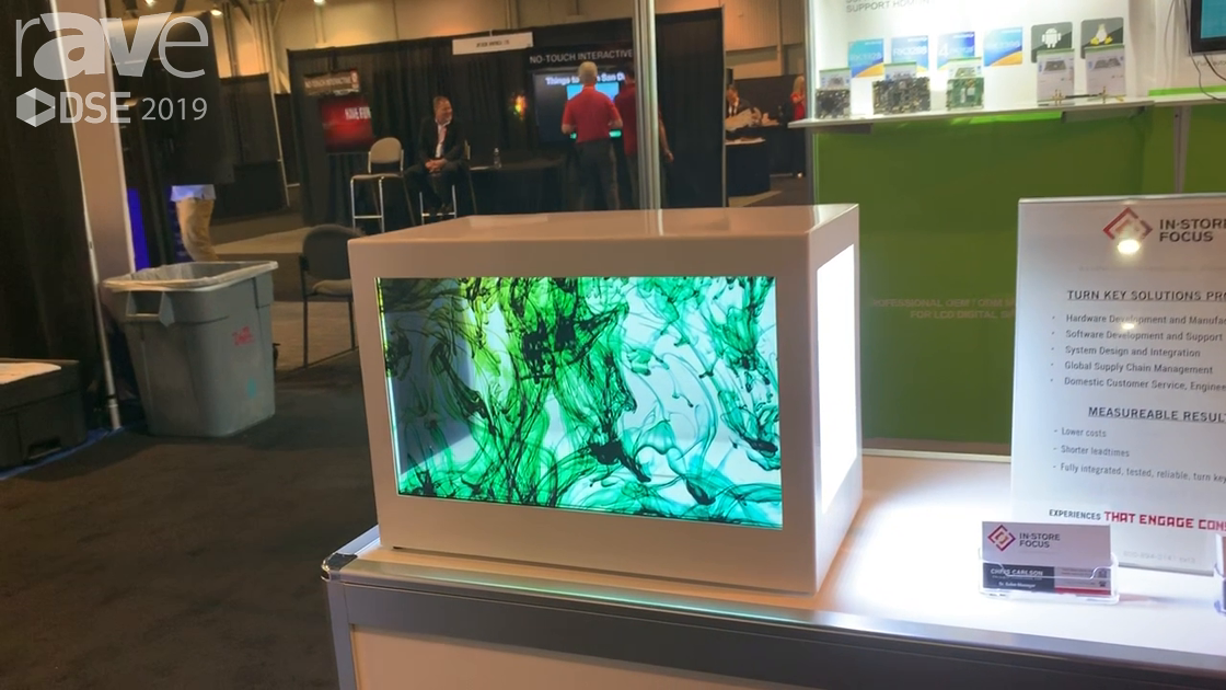 DSE 2019: SUNCHIP Shows Off Its Transparent Screen Box Display for Retail Applications