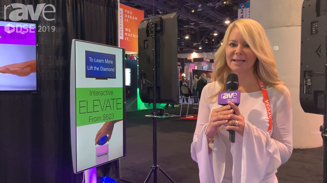 DSE 2019: Videotel Demos ELEVATE Weight Sensor That Triggers Content When a Product Is Picked Up