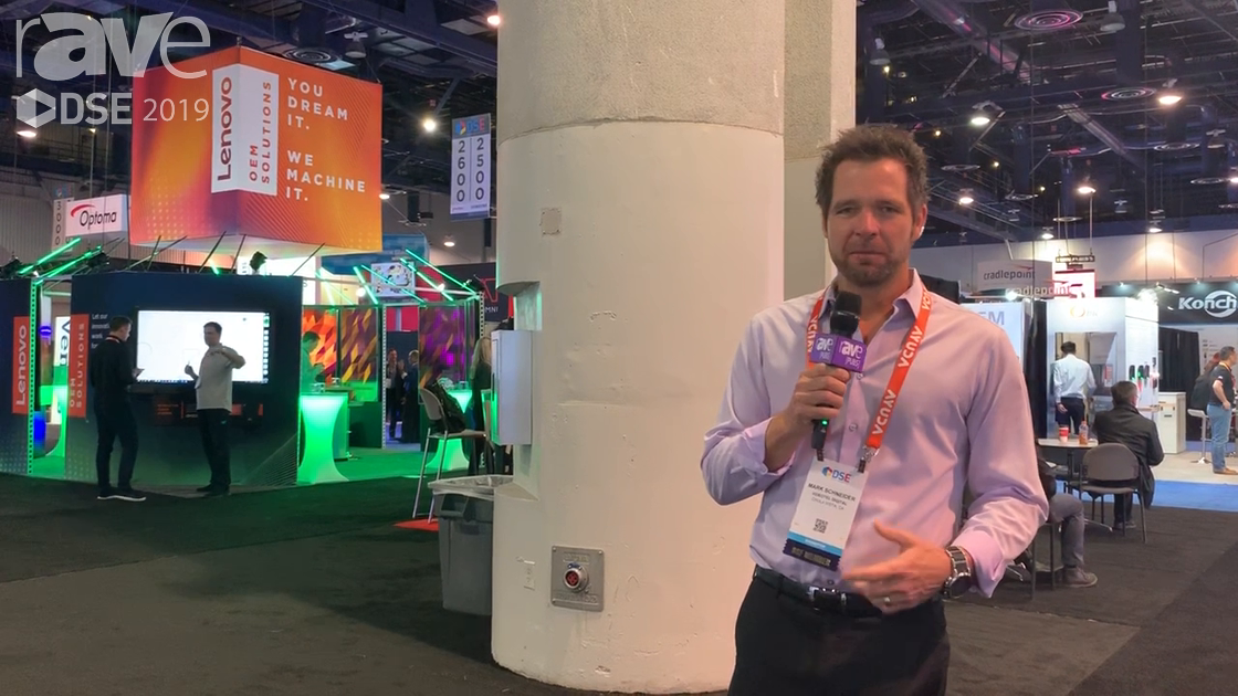 DSE 2019: Videotel Demos Sense Interactive Sensor That Can Be Attached to Display to Trigger Action