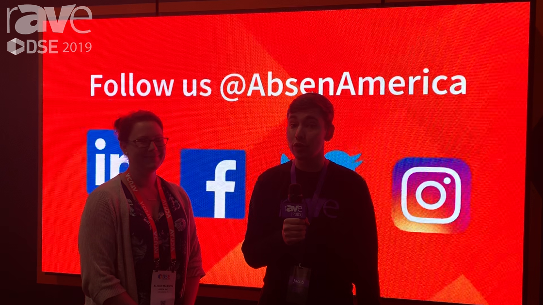 DSE 2019: Alison Maxson of Absen Speaks with Jacob Blount, Talks LED Products and APEX Awards