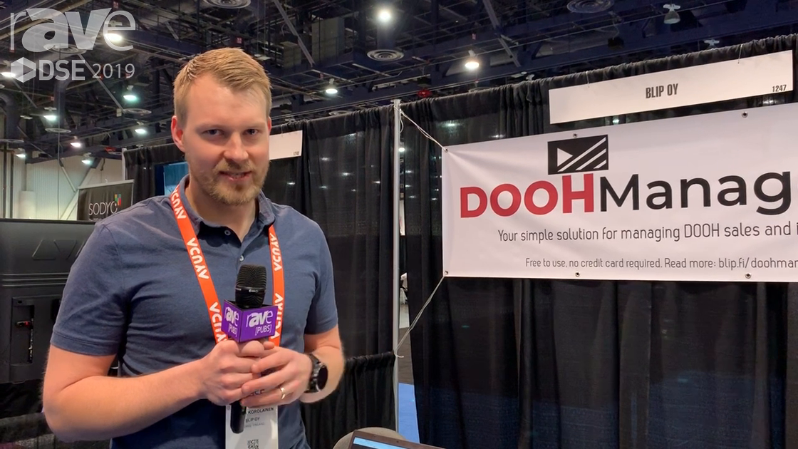 DSE 2019: Blip Oy Features DOOHManager.com for Managing DOOH Ad Inventory Sales