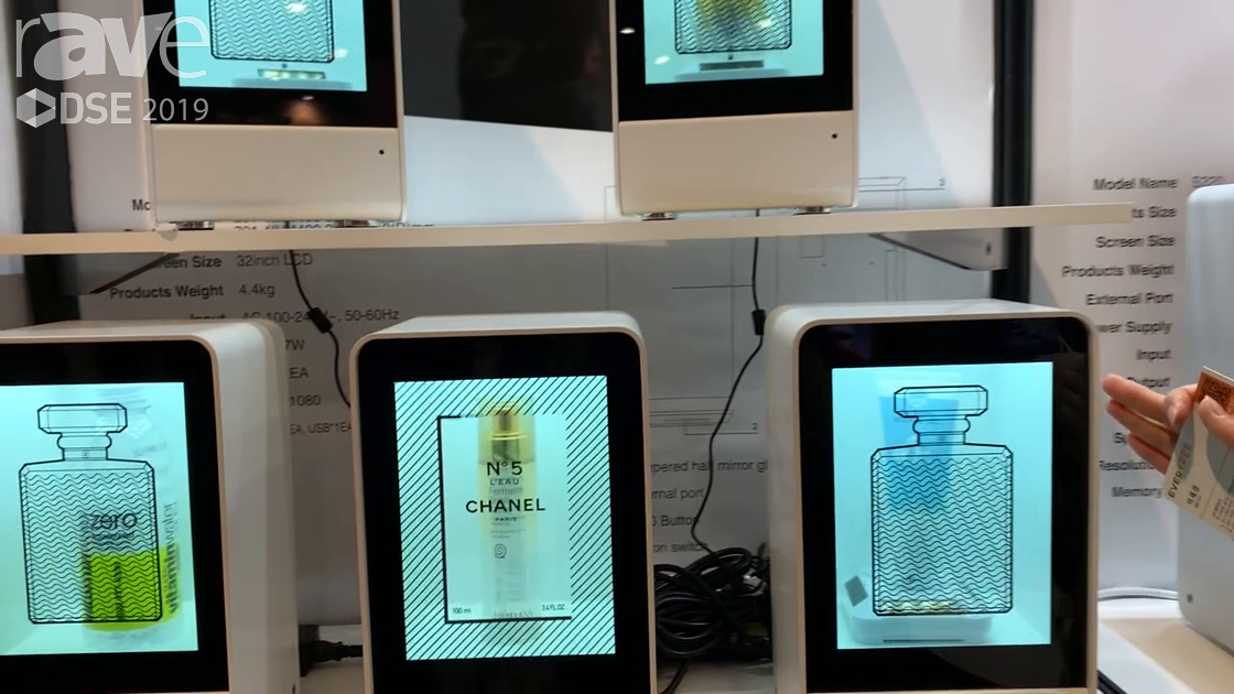DSE 2019: Evertree Features Its Transparent LCD Showcase for Retail Applications