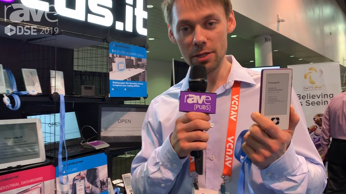 DSE 2019: Focus.it Demos E-Ink-Based E-4 ID Card With RFID, Updating Content, Etc.