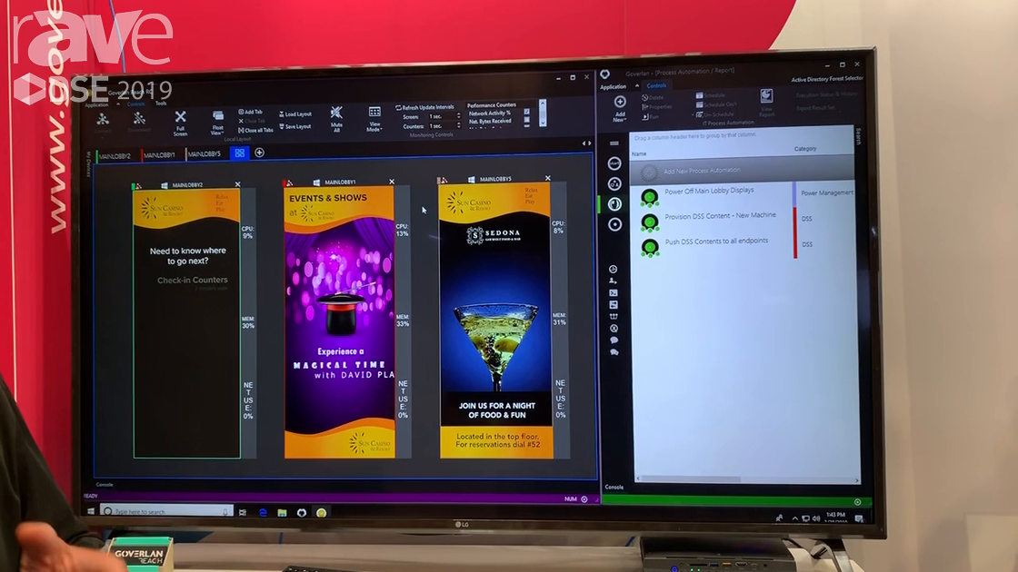 DSE 2019: Goverlan Reach Demos Digital Display Operation Software for IT Support