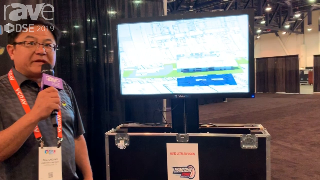 DSE 2019: Homerun Zone Showcases VisioPM 60/60 Ultra 3D Vision (Glasses-Free) With 120° Viewability
