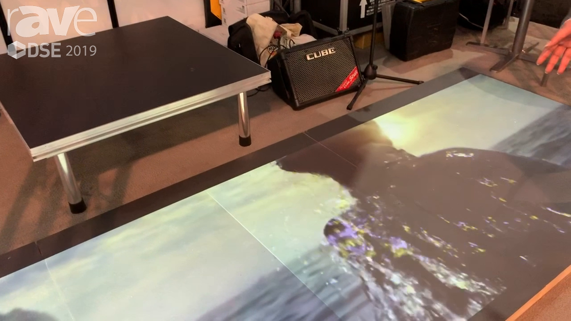 DSE 2019: Paintpam Shows S-Paint Floor, Turns Any Surface (Like a Floor) Into a Projection Screen