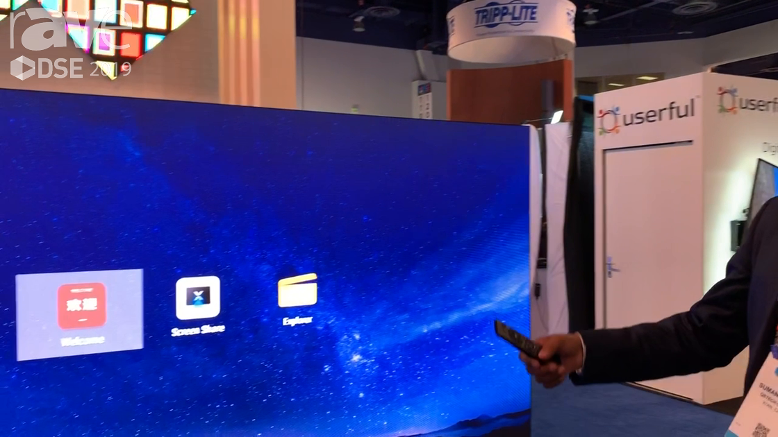 DSE 2019: QSTECH Demos M Wall, a 1.9mm LED Display Video Wall With Embedded Android Control