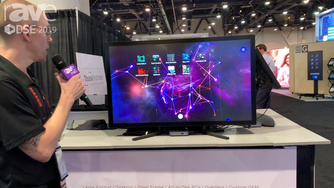 DSE 2019: Touch Systems Features Its P404-TSP PCAP Multi-Touch NEC Display With Anti-Glare Coating