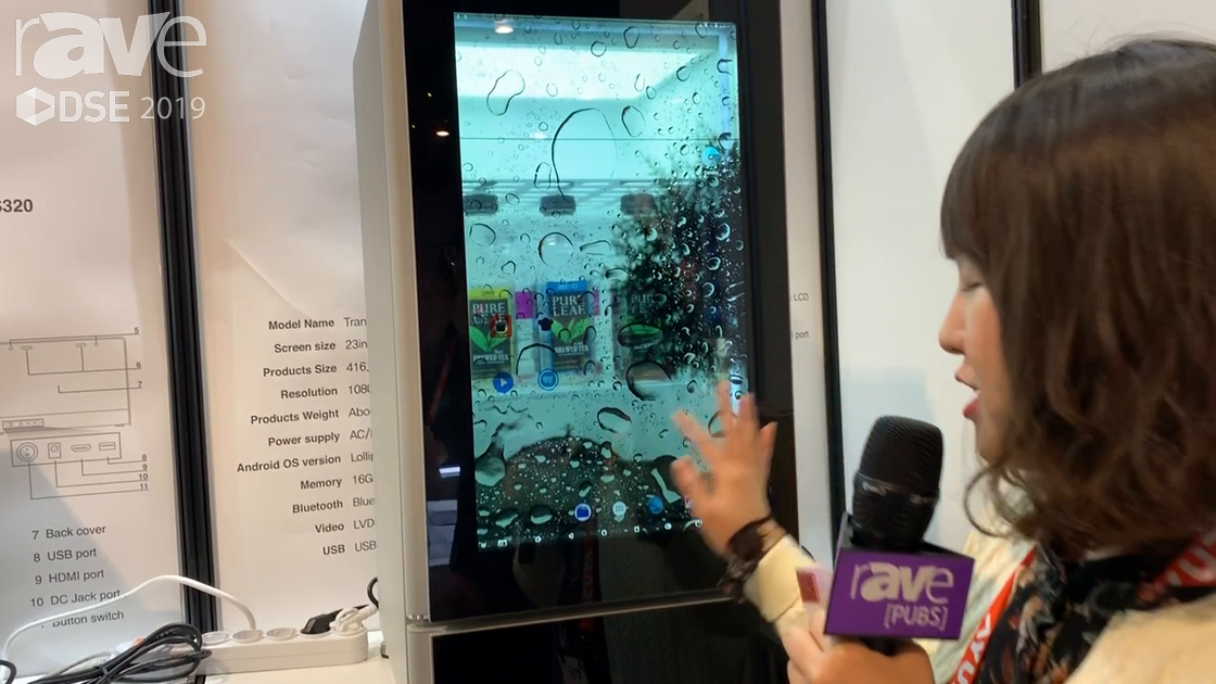 DSE 2019: Evertree Showcase a Wi-Fi-Based Cooler With Transparent Touch Screen as the Door