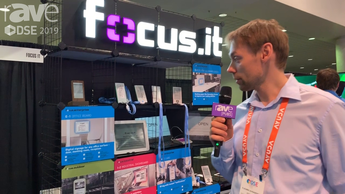 DSE 2019: Focus.it Showcases E-1 Office Board E-Ink Based Room Booking Sign