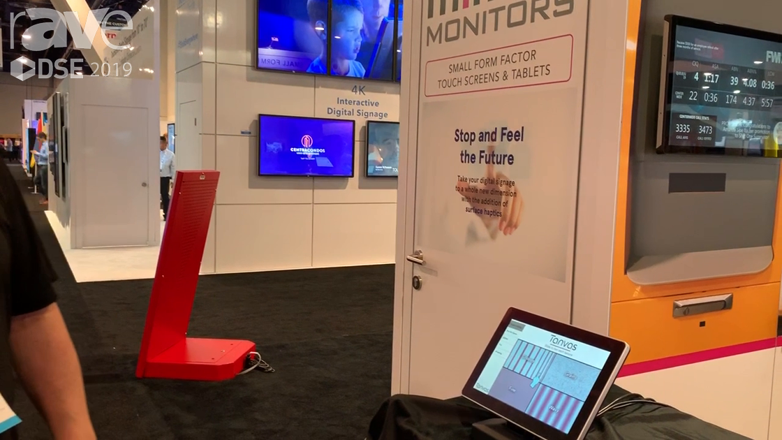 DSE 2019: Mimo Monitors Demos Mimo View 10-inch Display with Tanvas Touch Capabilities